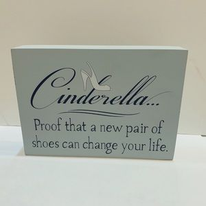 Fashion Home Decor Sign, Cinderella